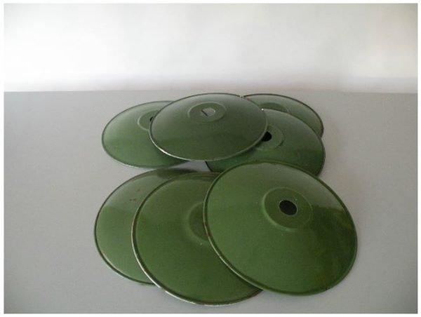 Geemaileerde schotellamp groen meerdere