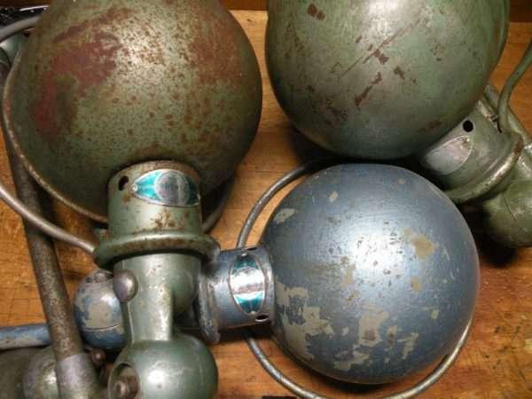 Vintage Jieldé lampen uit Frankrijk