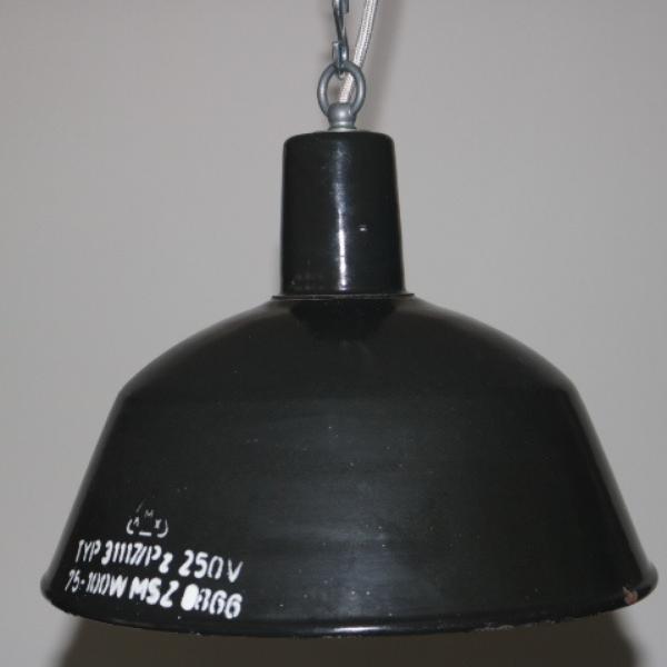 zwart emaille hanglamp 03