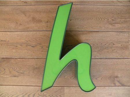 letterlamp groen h 1