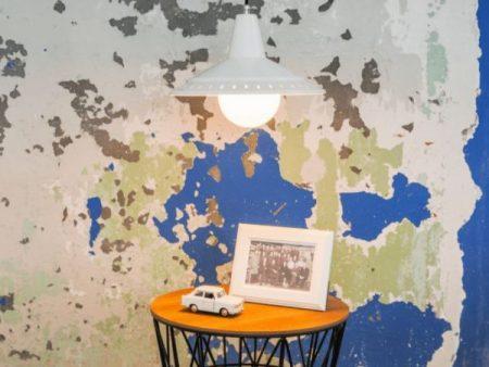 De modernist Anvia retro hanglamp BINK lampen wit insitu
