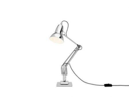 Original 1227 bureaulamp Bright Chrome w BW Cable 3