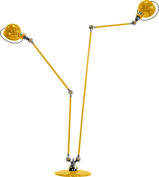 Jielde-Loft-D7460-vloerlamp-duo-Mosterd-RAL-1003
