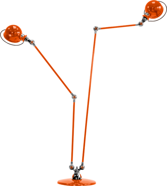Jielde-Loft-D7460-vloerlamp-duo-Oranje-RAL-2004