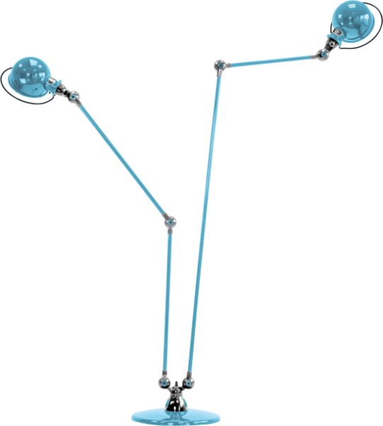 Jielde-Loft-D7460-vloerlamp-duo-Pastel-Blauw-RAL-5024