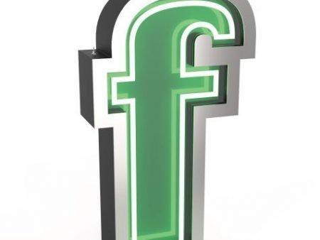 Delightfull letterlamp F frontaal