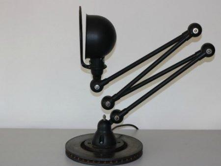 Jieldé vintage Loft vloerlamp 4-arm zijaanzicht li