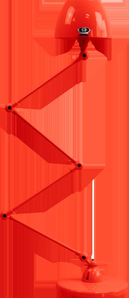 jielde-Aicler-AID433-vloerlamp-rood-RAL3020-rond