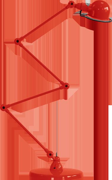jielde-signal-SI433-vloerlamp-rood-RAL3020