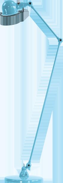 jielde-signal-SI833-vloerlamp-pastel-blauw-RAL5024