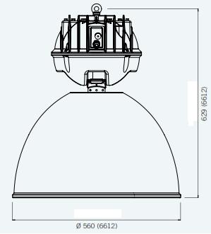 afmetingen holophane hanglamp