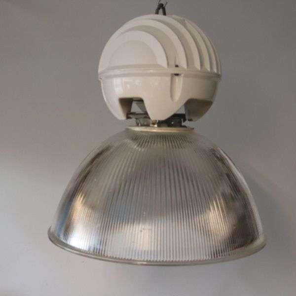 Lamp met witte kop